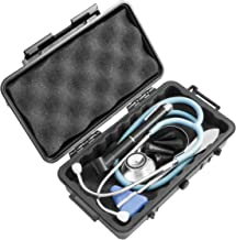 CASEMATIX Airtight Sealing Medical Supplies Stethoscope Case – Fits Stethoscopes for Nurses Doctors, Led Otoscope, Percussion Hammer, Thermometer and More Medical Tools
