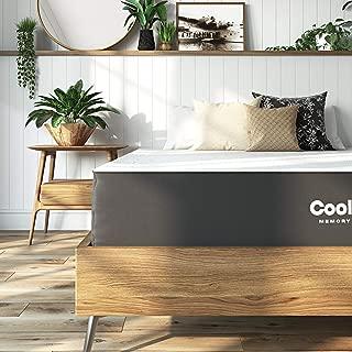 Classic Brands Cool Gel Ventilated Gel Memory Foam 10-Inch Mattress , Queen, White