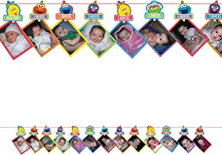 Elmo Turns One Photo Garland [Contains 1 Manufacturer Retail Unit(s) per Amazon Combined Package Sales Unit] - SKU# 221835