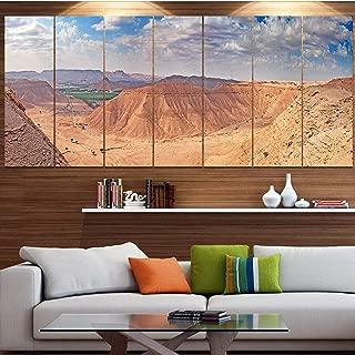 DESIGN ART Designart 'Clay Rocks Around Riyadh City' Modern Landscape Art - Multi-Color 48 in. Wide x 28 in. high - 4 Panels