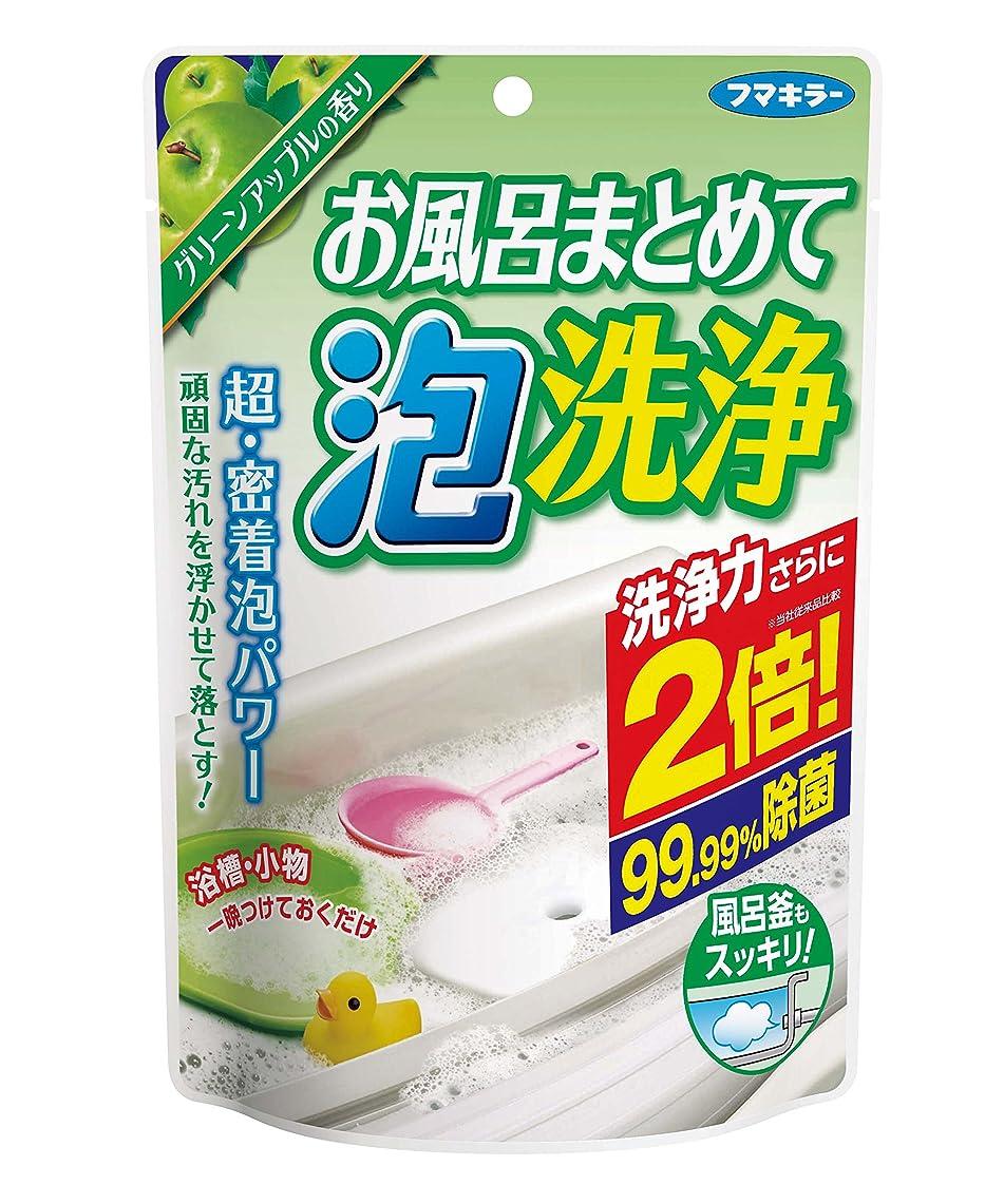 教会見せます欠点お風呂まとめて泡洗浄 グリーンアップルの香り 230g