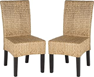 Safavieh Home Collection Luz Natural Wicker Dining Chair (Set of 2), 18