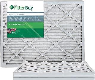 FilterBuy 20x24x1 MERV 13 Pleated AC Furnace Air Filter, (Pack of 4 Filters), 20x24x1 – Platinum