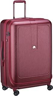 Delsey Paris Grenelle 76 cm 4 Double Wheels Expandable Trolley Suitcase (Hardside) Red (00203982104)