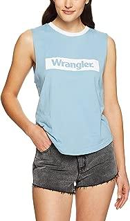Wrangler Women's Block Muscle, Cornflower Blue