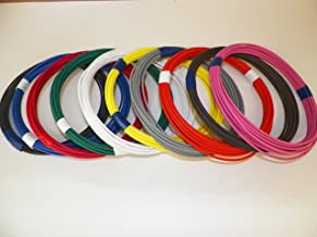 Automotive Copper Wire, GXL, 18 GA, AWG, GAUGE Truck, Motorcycle, RV, General Purpose. Order by 3pm EST Shipped Same Day (10 Colors 25' Each)