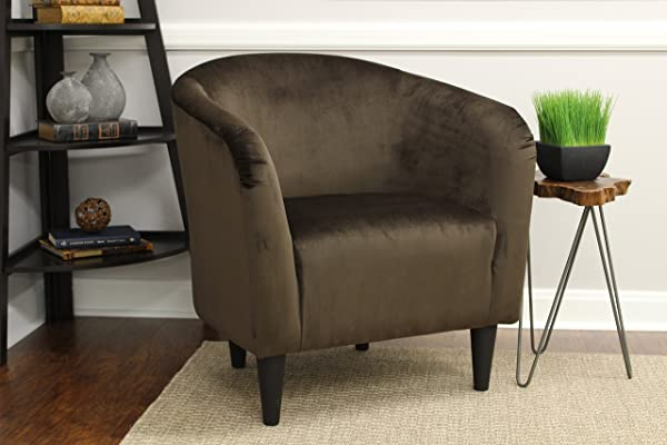 Mainstays Microfiber Tub Accent Chair Chocolate Brown