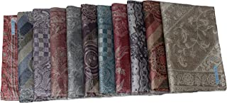 Kuldip Jamawar Pashmina Style Scarf Shawl Stole. Mixed designs. (Pack of 5).
