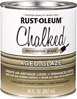 Rust-Oleum 315881 Chalked Decorative Glaze, Semi-Transparent Aged, 30 fl. oz.