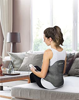 Sunbeam Heating Pad Back Wrap with Adjustable Strap | Contoured for Back Pain Relief | 4 Heat Settings with 2 Hour Auto Of...