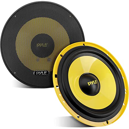"""2Way Custom Component Speaker System 6.5"""" 400 Watt Component with Electroplated Plastic Basket, Butyl Rubber Surround & 40 Oz Magnet Structure Wire Installation Hardware Set Included Pyle PLG6C"""