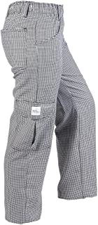 Mercer Culinary M61071HTS Genesis Women's Chef Cargo Pant in Hounds Tooth, Small, Black/White