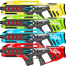 Best Choice Products Set of 4 Kids Interactive Infrared Rifle Laser Tag Toy Blasters w/ Extra Lives, Life Tracker, Backwards Compatible - Multicolor