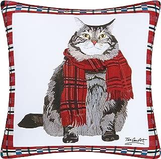 C and F Enterprises 18-in. Square Indoor/Outdoor Pillow - Fat Cat