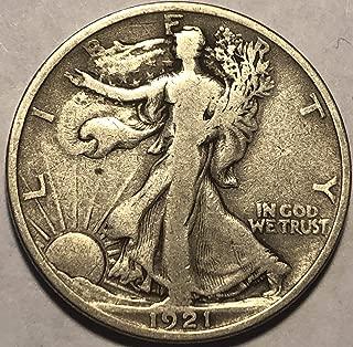 1921 P Walking Liberty (KEY DATE) Half Dollar Fine +