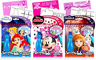 Disney Minnie Mouse Paint with Water for Kids Toddlers Bundle Set ~ 3 Mess-Free Paint Books with Water Surprise Brushes (F...