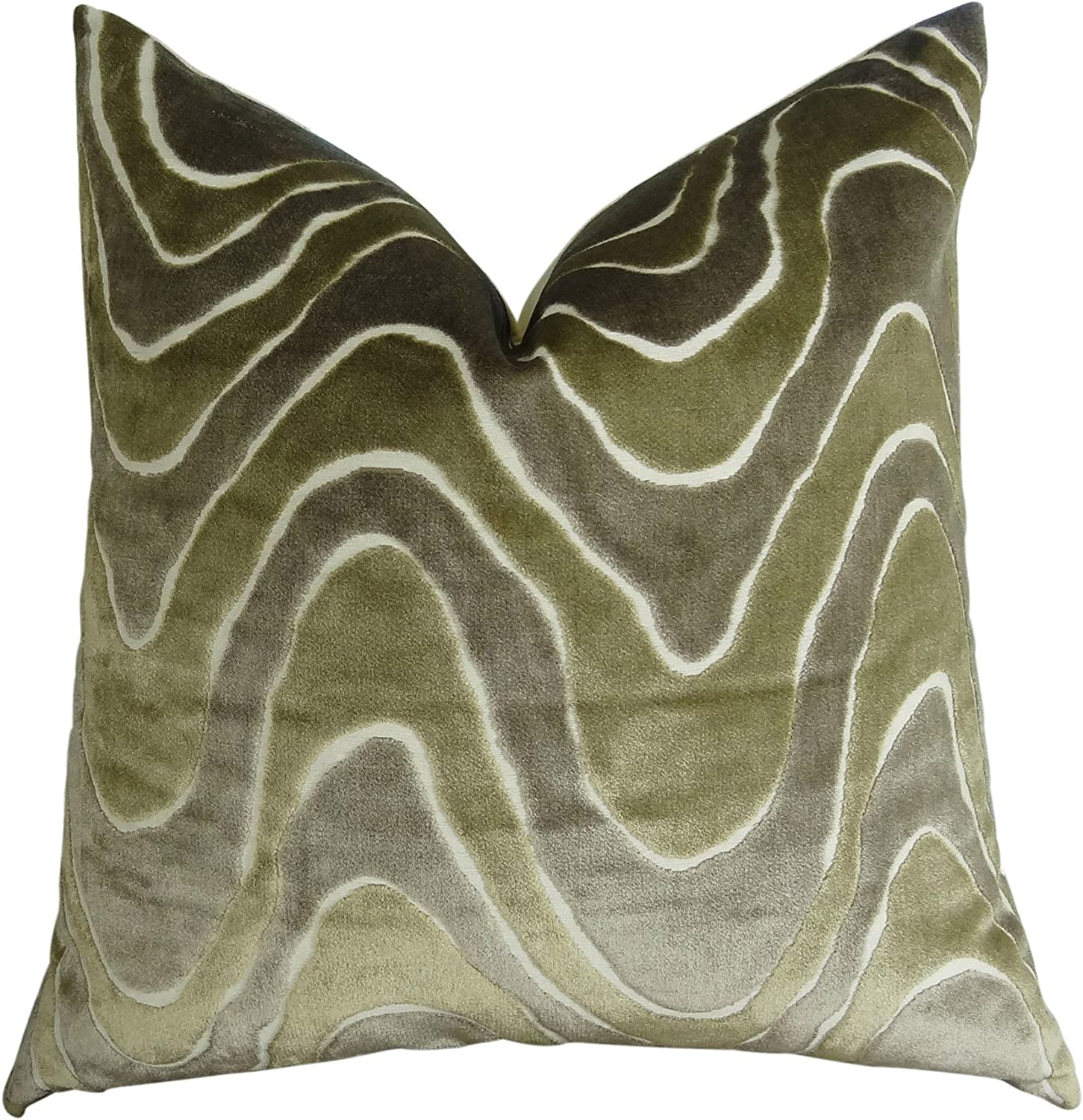 Graphic Taupe Ivory Greige Luxury Sofa Pillow  11397