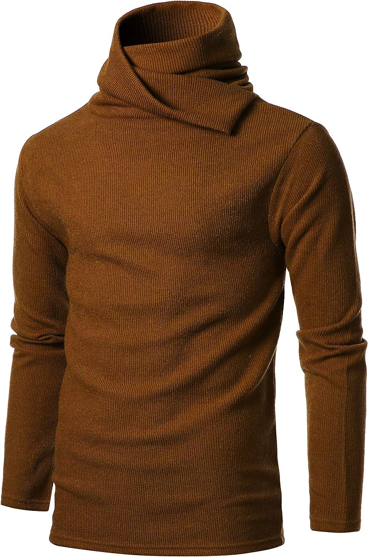 GIVON Mens Slim Fit Soft Max 51% OFF Cotton Blend Pullo Turtle 2021 autumn and winter new Abundant Neck