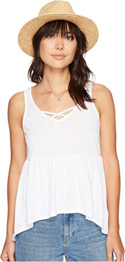 Catherine Burnout Babydoll Tank Top