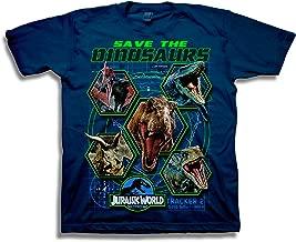 Jurassic World Boys 2 Save The Dinosaurs Short Sleeve T-Shirt