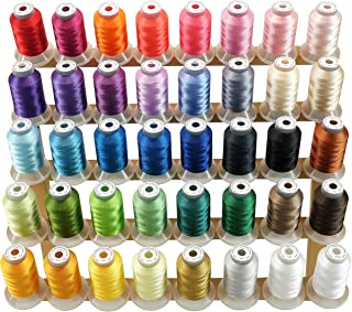 New brothread 40 Brother Couleurs Polyester Fil machine à broder pour Brother/Babylock/Janome/Singer/Kenmore Machine 500M ...
