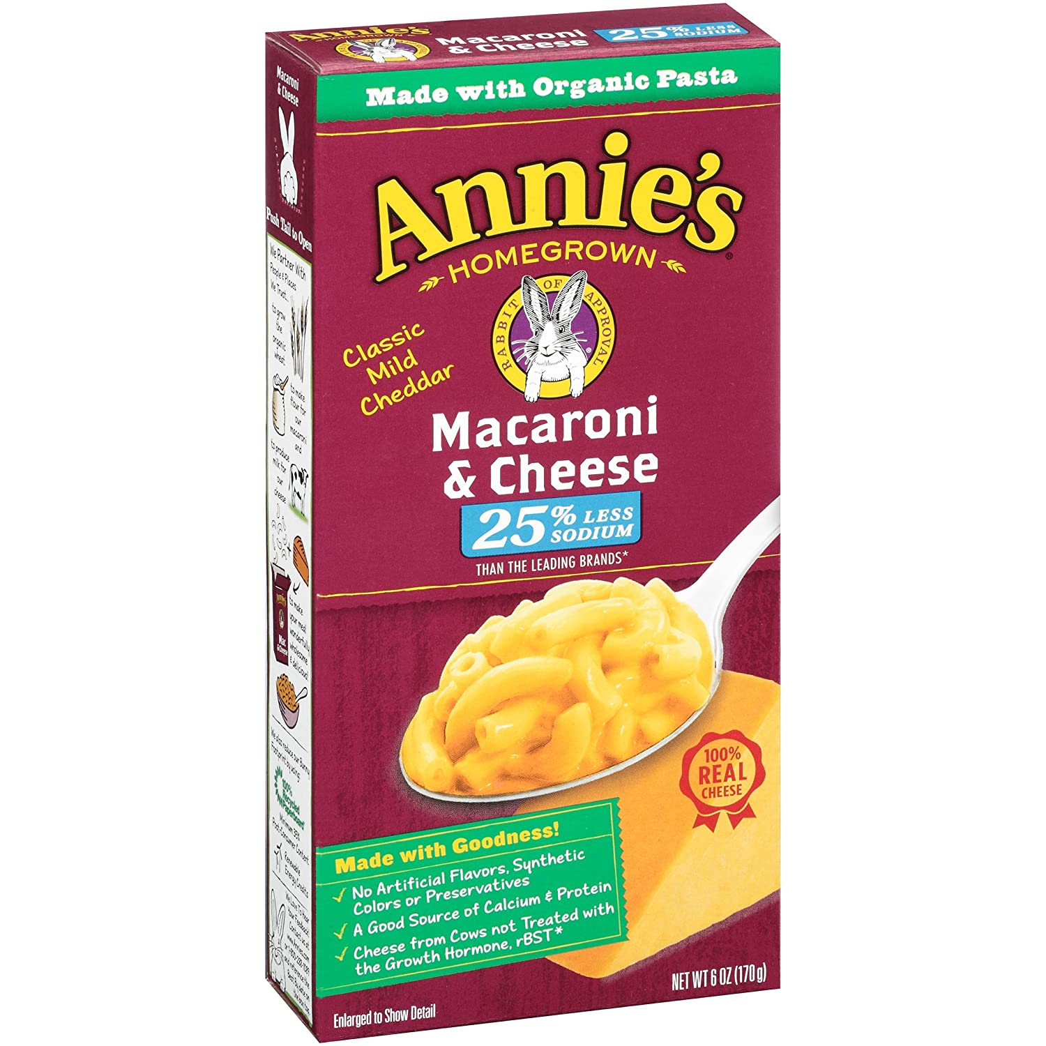 Annie's Homegrown Genuine Free Shipping Macaroni Our shop most popular Cheese - Lower 3 Sodium Pa 6 oz
