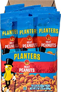 Planters Heat Peanuts (2.25 oz Packets, Pack of 15)