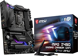 MSI - MPG Z490 Gaming Carbon Wifi - Placa Base Performance Gaming (10th Gen Intel Core, LGA 1200 Socket, DDR4, SLI/CF, Doble Ranura M.2, USB 3.2 Gen 2x2, Wi-Fi 6, DP/HDMI, Mystic Light RGB)