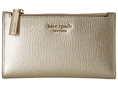 Kate Spade New York Small Slim Bifold Wallet (Pale Gold) Wallet Handbags