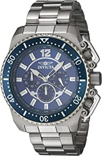 Invicta 21953 Watch Pro Diver' Quartz Stainless Steel Casual, Silver-Toned
