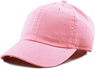 960dd37a The Hat Depot Kids Washed Low Profile Cotton and Denim Plain Baseball Cap  Hat