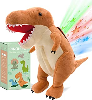 "Best Dinosaur Star Projector Night Light, 14"" T-Rex Stuffed Animal Fluffy Plush, Birthday Gifts for Boys, Girls, Toddlers, Kids, Dinosaur Nursery Room Decor, Baby Sleep Soother, INNObeta Review"