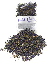Dried Organic Violet Flower Sprinkles from Germany (Viola Odorata) - Perfect addition to any salad, snack or smoothie bowl | Net Weight: 0.35oz / 10g | Whole Viola Flowers & Sprinkles