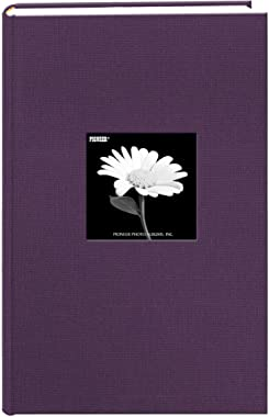Fabric Frame Cover Photo Album 300 Pockets Hold 4x6 Photos, Wildberry Purple