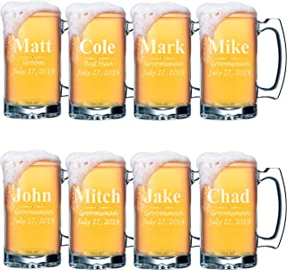 custom beer mugs groomsmen