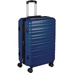 AmazonBasics - Maleta de viaje rígidaa giratoria - 68 cm, Azul marino
