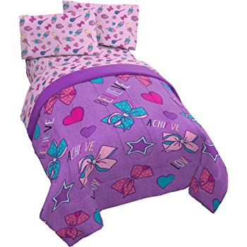BED SHEETS SET Twin Bedding Comforter Quilt JOJO Siwa Bows 4 Piece BEDSPREAD