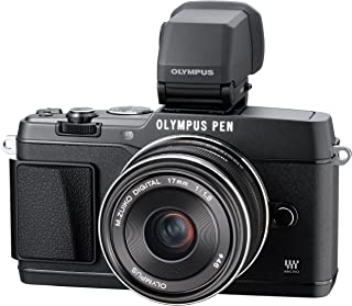 Olympus E-P5 16.1 MP Mirrorless Digital Camera with 3-Inch LCD and 17mm f/1.8 Lens (Black)