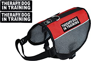 Therapy Dog mesh Vest Harness Cool Comfort Nylon Purchase Comes with 2 Reflective Therapy Dog in Training Removable Patches. Please Measure Your Dog Before Ordering