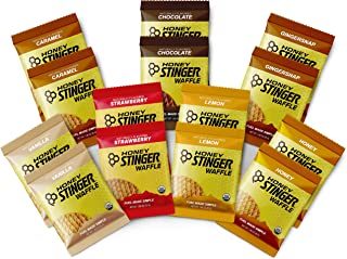 Honey Stinger Organic Waffles - Variety Pack – 14 Count - 2 of Each Flavor - Energy Source for Any Activity - Honey, Chocolate, Caramel, Gingersnap, Vanilla, Strawberry & Lemon