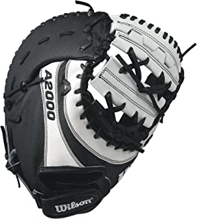 Wilson A2000 BM12 SuperSkin Fastpitch Glove, Black/White, 12