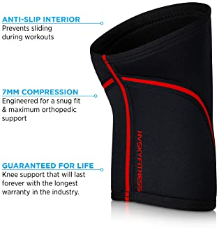HVSKY Fitness Knee Sleeves for Weightlifting – 7mm Neoprene Compression for Cross Training, Powerlifting, & Squat Sup...