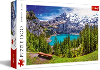 Trefl Oeschinen Lake Shaped Puzzle - 1500 Pieces