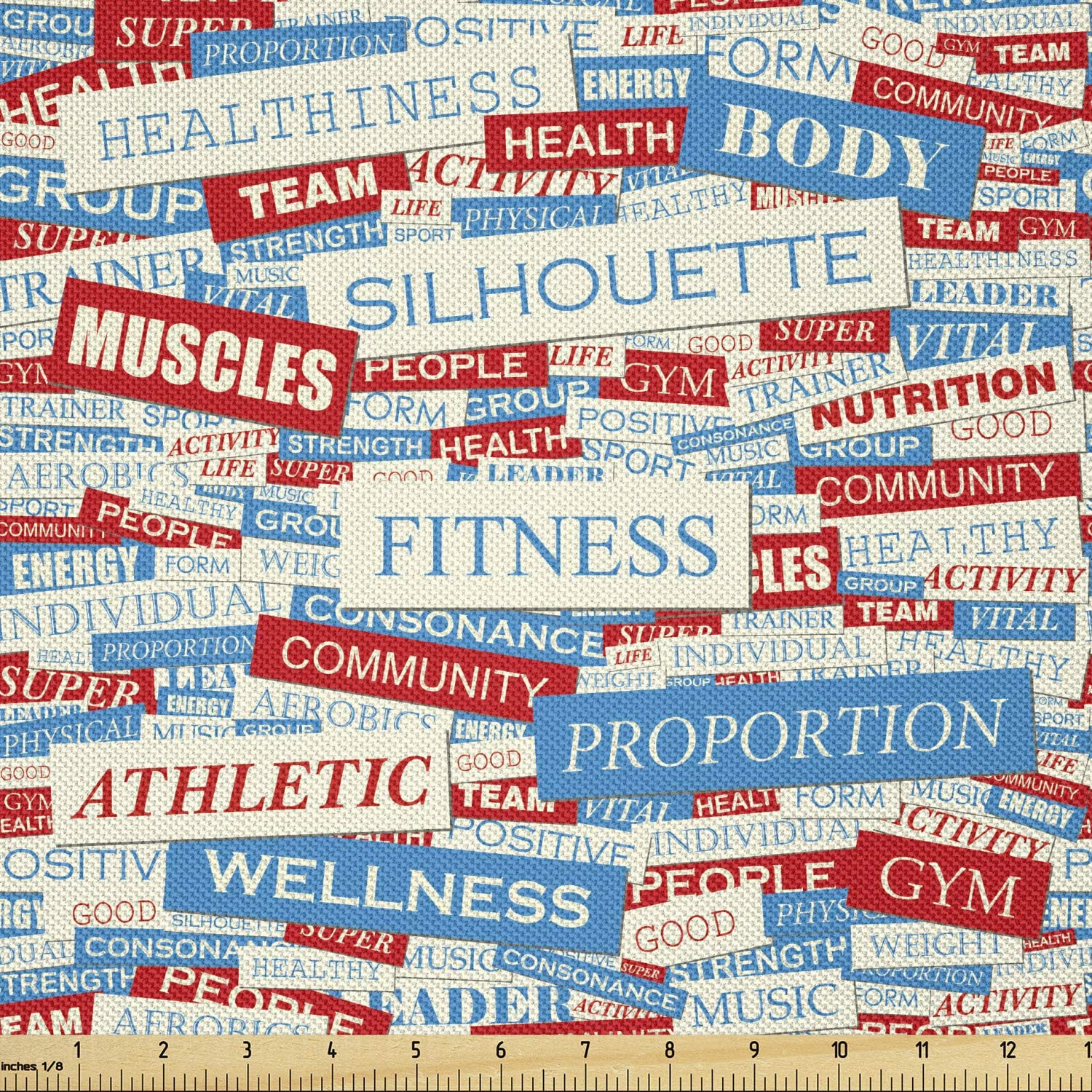 Ambesonne Fitness Fabric by The Collage Yard Words Superlatite Max 85% OFF of Physical