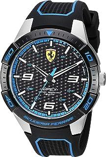 Ferrari Men's APEX Stainless Steel Quartz Watch with Silicone Strap, Black, 20 (Model: 0830632)