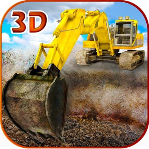 Areia escavadeira simulador 3D