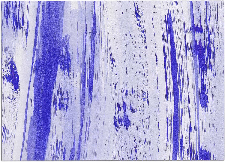 KESS InHouse DP1045ADM02 Danii Pollehn Indigo Stripes bluee White Watercolor Dog Place Mat, 24  x 15