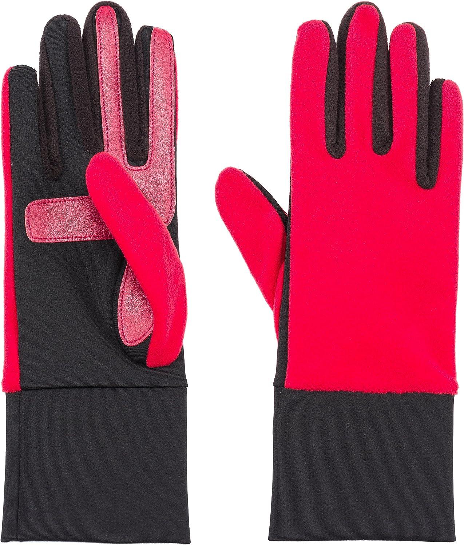 Isotoner Women's Smartdri Fleece Glove with Smartouch Technology