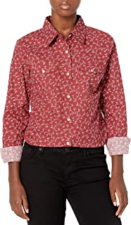 Wrangler Women's Western Long Sleeve Snap Shirt