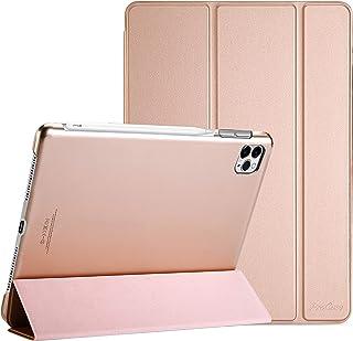 "ProCase iPad Pro 12.9"" 第4世代2020 ケース [Apple Pencil 2充電対応] 超スリム スタンド フォリオ保護ケース 半透明フロスト バックカバー 対応端末:iPad Pro 12.9インチ 4世代 2020..."